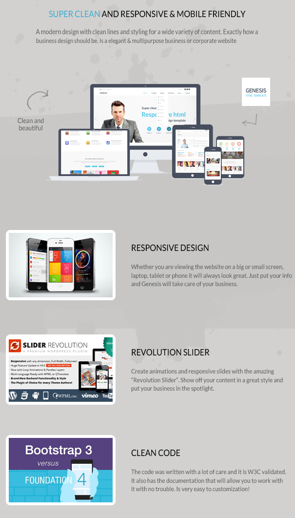 Genesis - Corporate Joomla Template Description