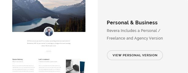 Revera — Simple and Creative Portfolio Template